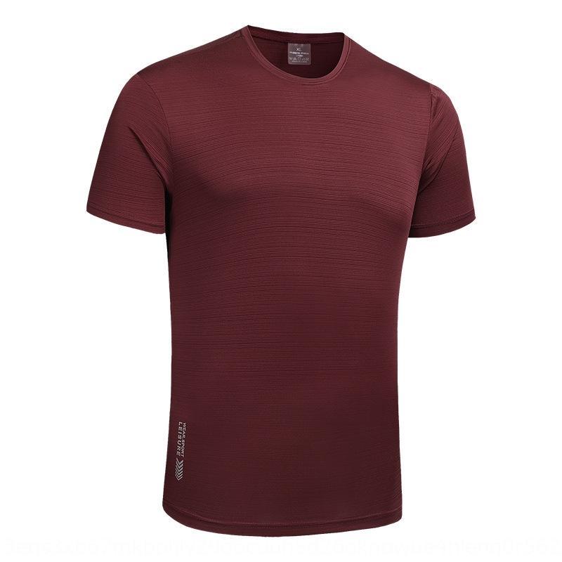 N48er Außenschnelltrocknend Kurzarm-T-Shirt T-Shirt Sportbekleidung Herren-Sommer Thin Ice Silk atmungsaktiv Größe Fitness sportsw Lauf