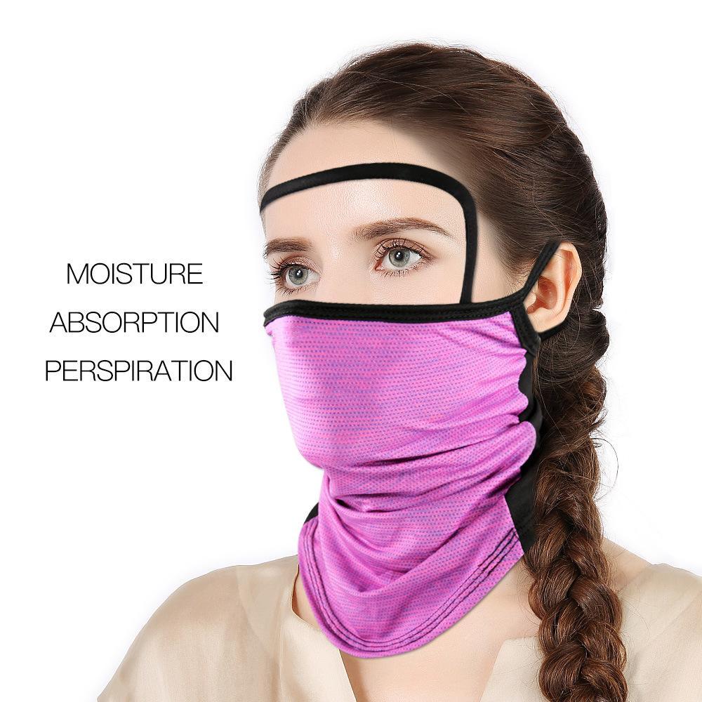 Bandanas écharpe magique avec le bouclier transparent yeux Masques Cyclisme visage extérieur Lavable réutilisable Masque anti-poussière solaire oreille Hanging AHD782