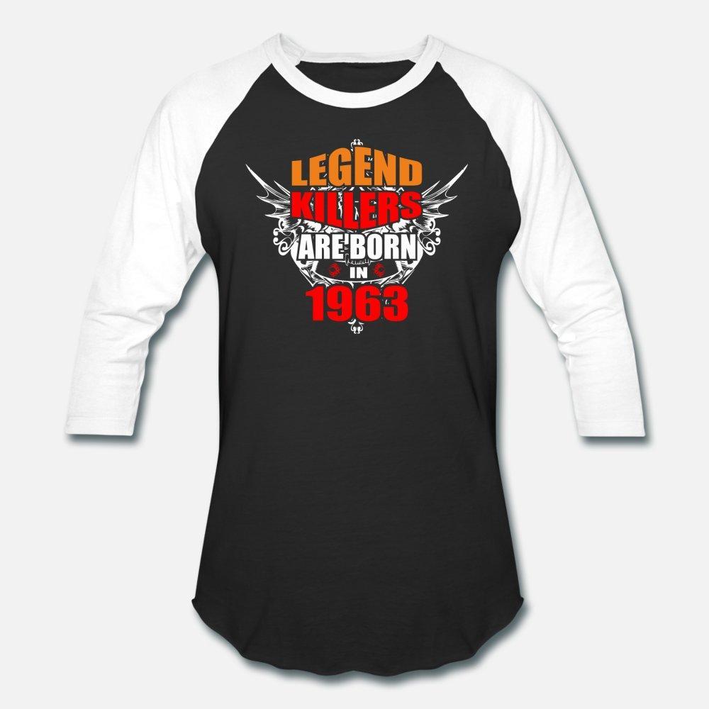 Efsane Killers Are Born In 1963 t gömlek erkekler Custom pamuk Ç Boyun Unisex Grafik Temel yaz Vintage gömlek