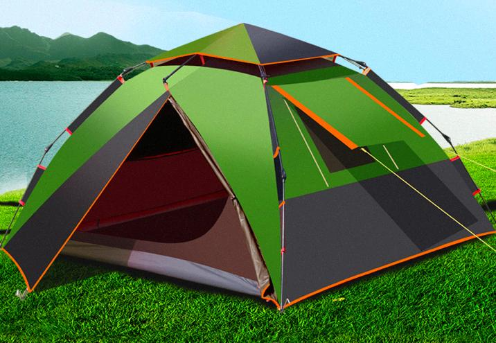 Tent Outdoor 3 4 People Automatic Thickening Anti Storm ...