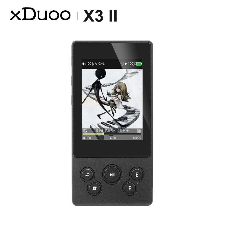 MP4 joueurs Xduoo x3ii x3 II AK4490 USB DAC Bluetooth portable HD sans perte MP3 / WAV / FLAC Lecteur de musique DSD128 HIBY LINK CONTROL EN LINE