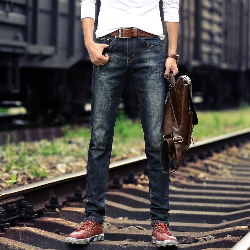 pantalons D3eLt et jeans épais automne pantalon droit jeans à la mode à la mode de style coréen des hommes et micro printemps élastiques hommes