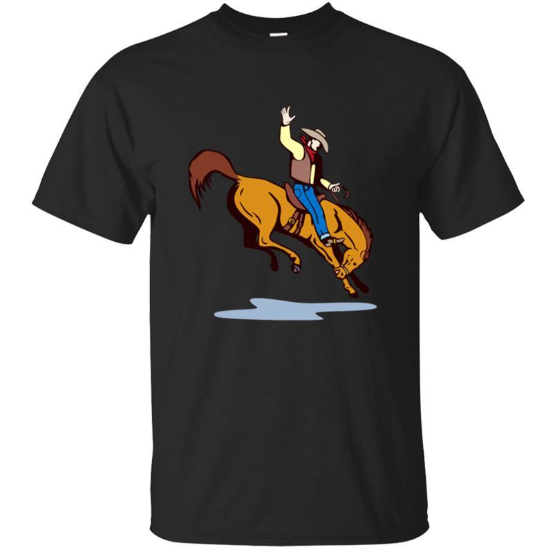 Unisexe Respirabilité Bronc Riding Concours T-shirt 2020 personnalisé original Hommes T-shirt col rond manches courtes T-Tops