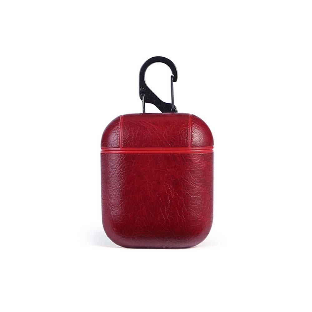 PU جلدية للحصول على اي Airpods بلوتوث شحن صندوق الملحقات حقيبة مفتاح الشريط لairpods الجيل الموالي 3 earpods حالة DHL الجملة مجانا