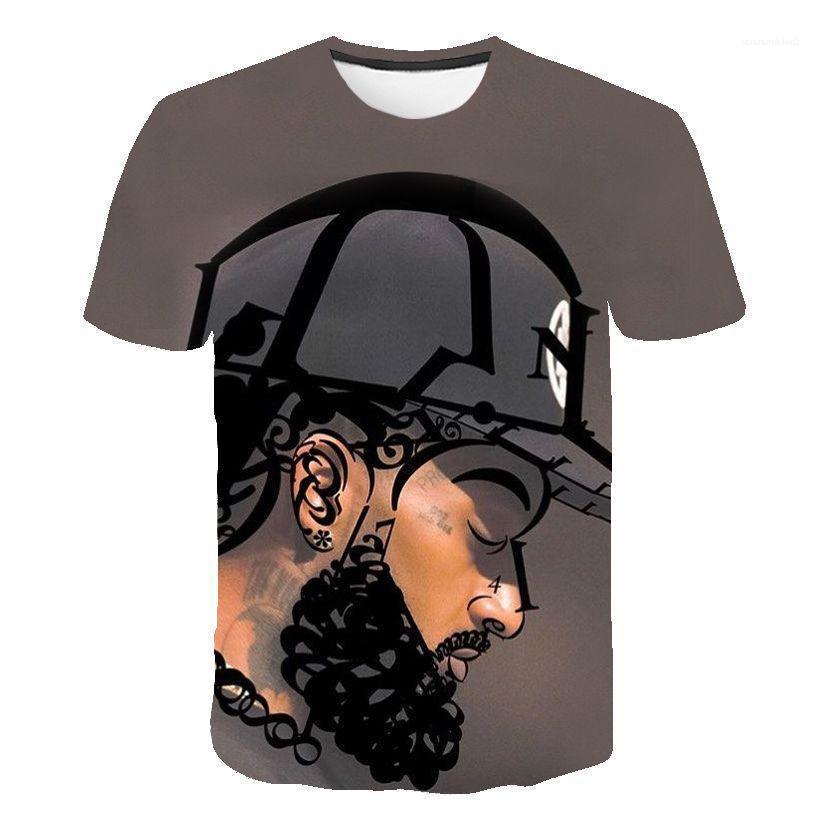 Casual Tees Kurzarm Tops amerikanische Rapper 3D-T-Shirts der Männer-Frauen-Sommer Nipsey Hussle