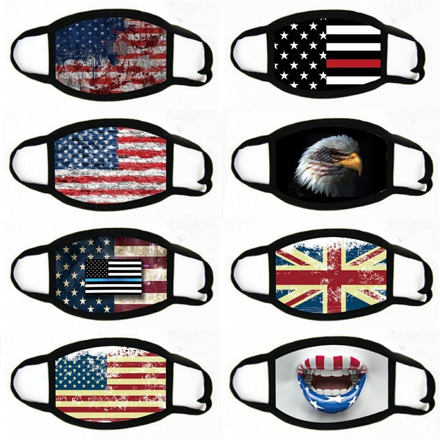 Máscaras exterior da bandeira dos EUA Magia HeadCycling Chefe Lenços à prova de vento face esporte Máscara Designer Máscara # 375