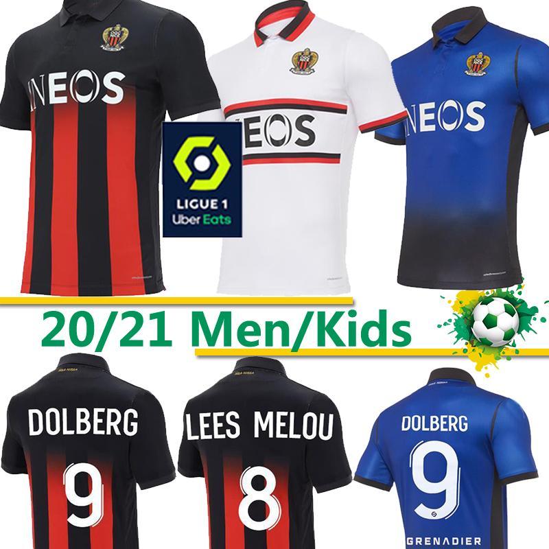 OGC Nice Football Maillots DOLBERG 2020 2021 Atal LIES MELOU CYPRIEN Football Shirt RONY LOPES CLAUDE MAURICE de Nice Jersey thaïlande 20 21