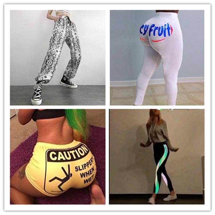 Femmes Sport Noir Designer Pantalon toute la saison Gym Jogging Courir Leggings Femmes long Sweatpants Pantalon de yoga réfléchissant