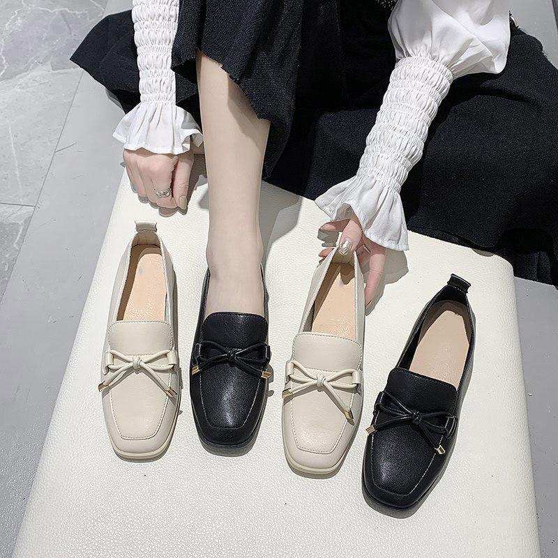On Kadınlar Orta Topuklar PU Deri Kayma Ayakkabı Sapatos Das Mulheres Bayanlar Parti Kadın ilmek Konfor Ayakkabı 2020 Kadın Yeni pompaları