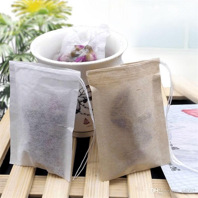 Mini Tea Strainer Filter Paper Bag Unbleached Wood Pulp Filters Disposable Single Drawstring Heal Seal TeabagsTea Bags 8*10cm 0 08zs ZZ