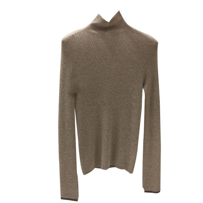 Ins с Ветровка Undershirt Женская водолазка Basic свитер женщин пальто осенне-зимний 2019 новый черный Womens продажи