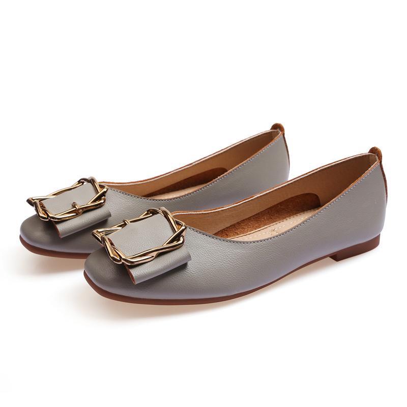 Wholesale preiswerte Damen flacher Schuh lager Frauen Mädchen Leder Nude schwarz grau neue arrivel Arbeits Hochzeit Kleid Schuhe dreizehn