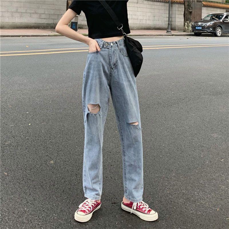 2020 neue Frühlings-Sommer-Herbst-Heißer Verkauf der Frauen Art und Weise beiläufige Jeanshosen FP8002 zerrissene Jeans für Frauen der Straßenart
