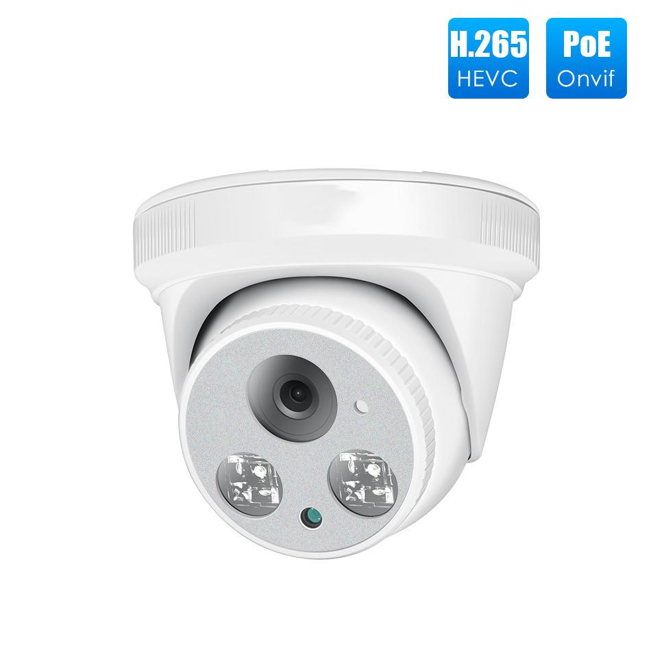 Las cámaras de vigilancia de interior de techo 500MP Hemisferio H.265 Red de Vigilancia de audio multifuncional Poe Día Webcam y noche-