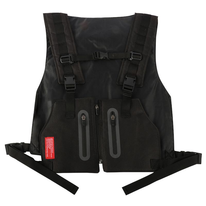 Custom Logo Outdoor Military Vest Pockets Polyester Chest Hardness Men Bag for HikingBicyclingMotorcycleGym