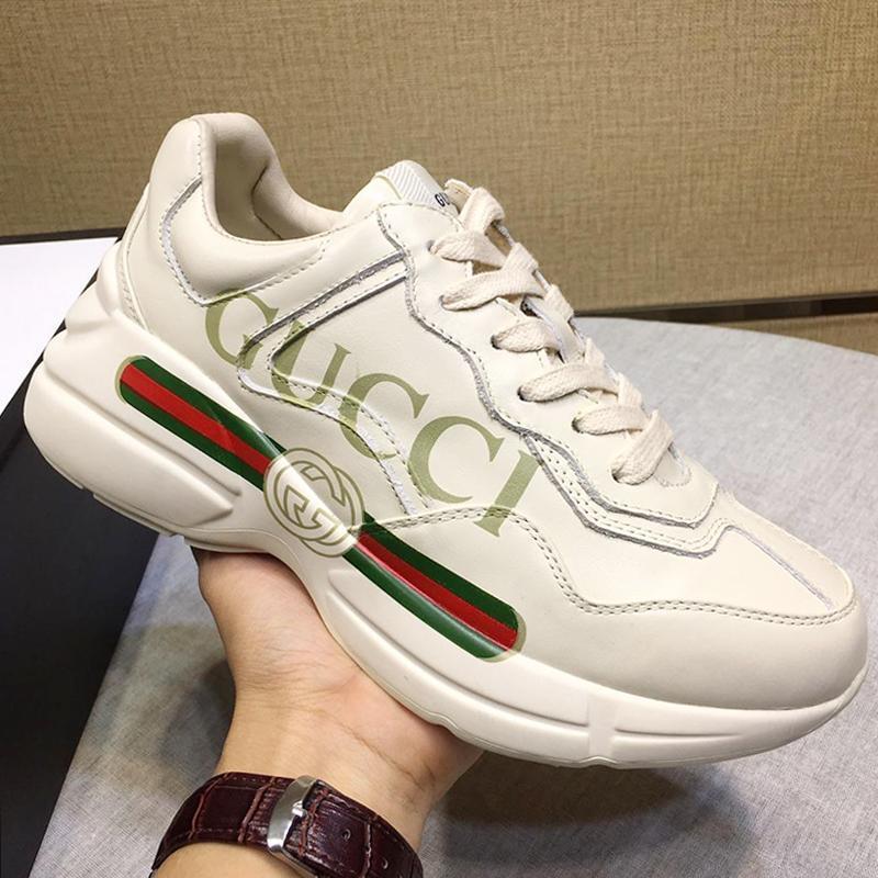 Nuovi pattini casuali delle donne di lusso di sport Flats Chaussures Pour Femme pelle Rhyton Sneaker Scarpe donna Modo Zapatos De Mujer Drop Ship