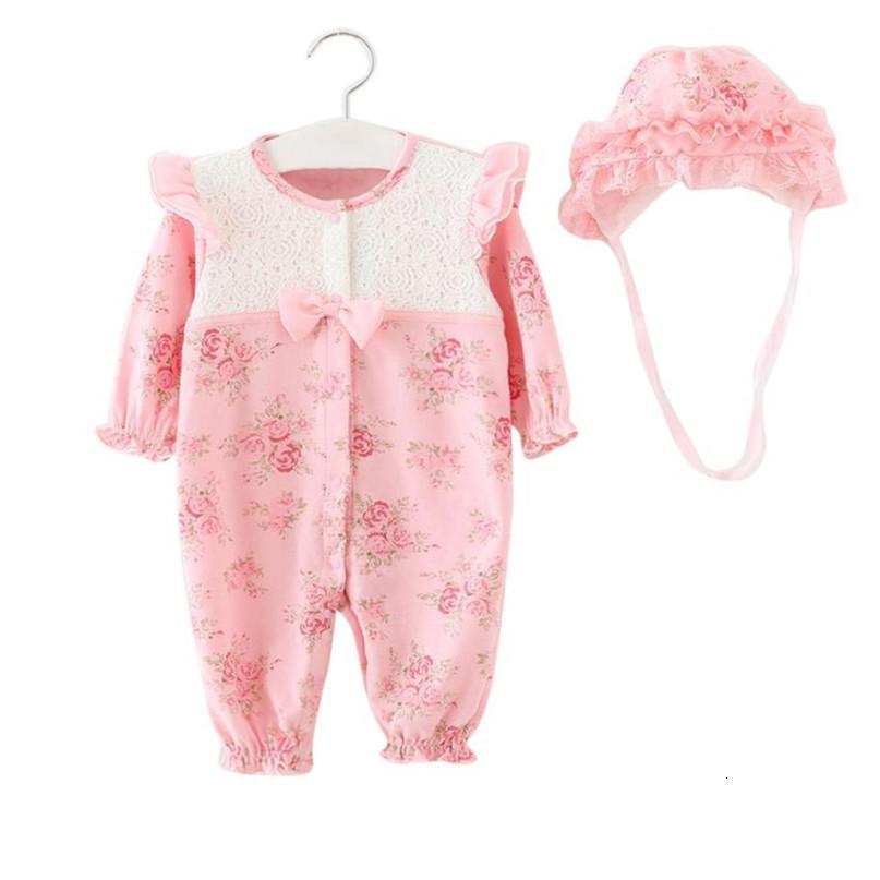 2 Farben Mode-neugeborene Kind-Baby-Kleinkind-Kappe + Spielanzug Bodysuit Playsuit Kleidung Set Hot Drop verschifft ST27