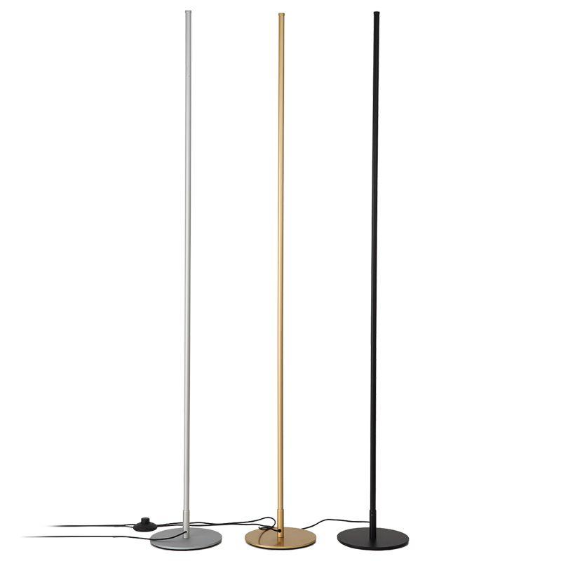 Modern LED Dim Lambader Uzaktan Karartma Salon Başucu Yatak Odası Çalışma LED Zemin Işık Değiştirilebilir LED Lamp Standı Yemek