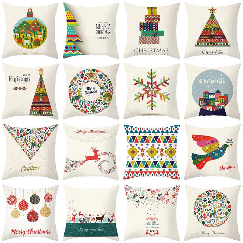 26 Stiller Merry Christmas Yastık Kış Dekor Mikro fibe yastık yüzleri noel Koltuk Yastık Kılıfı Yastık Kılıflar 45 * 45 cm yukarda atın Kapaklar