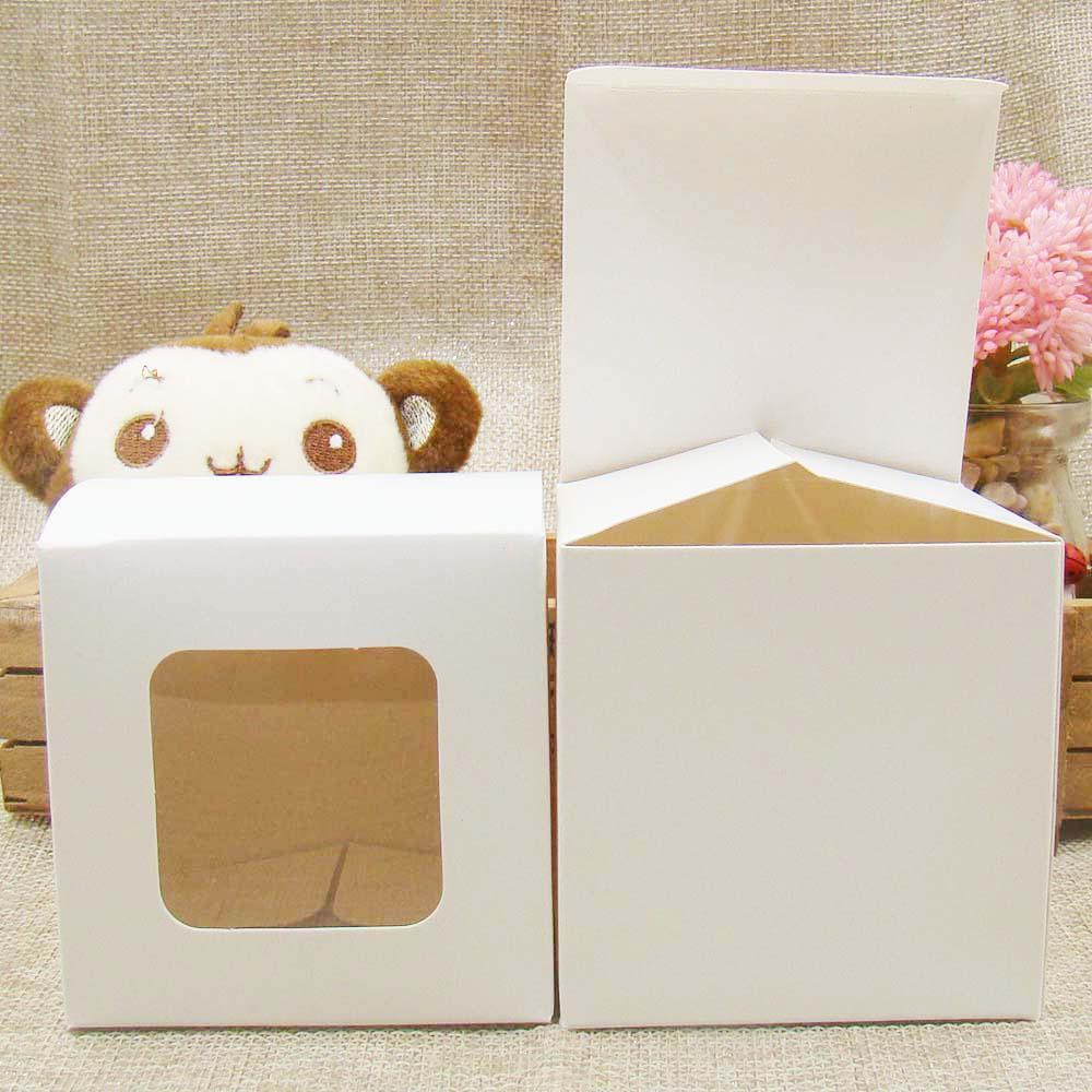 Multi Größe DIY Geschenkverpackung Display-Box mit klaren PVC-Fenstern für Süßigkeiten / Kuchen / Seife / Plätzchen / Kuchen-Display-Box