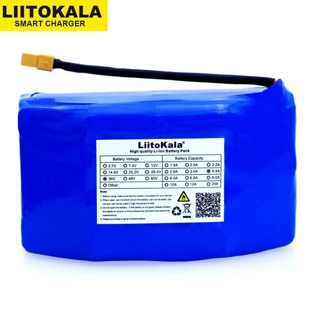 가전 liitokala 원래 36V 4.4Ah 높은 드레인 2 바퀴 전기 스쿠터 셀프 밸런싱 리튬 배터리 팩