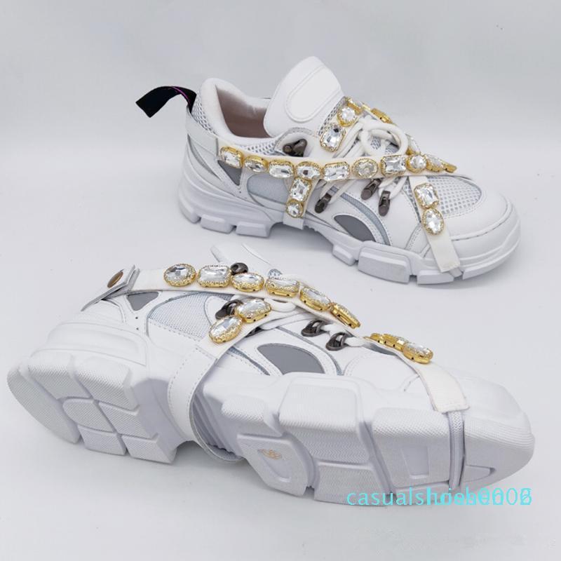 Nuovi FlashTrek Sneaker con Cristalli rimovibili progettista del Mens di lusso scarpe moda casual di lusso progettista Scarpe donna Sneakers AE01 c06