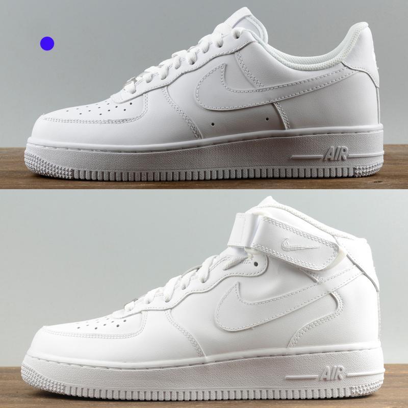 Zapatillas de deporte superiores de diseño para mujeres hombres ce 1 una baja calidad altos 07 chaussures AF1 formadores de moda los zapatos de las fuerzas de skate