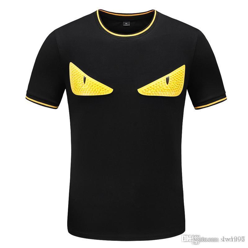 Camiseta 19 SS de los nuevos hombres, manga corta camiseta, Moda hombres de la moda casual superior, el 100% de algodón camiseta con ahorro de tóner, Tamaño