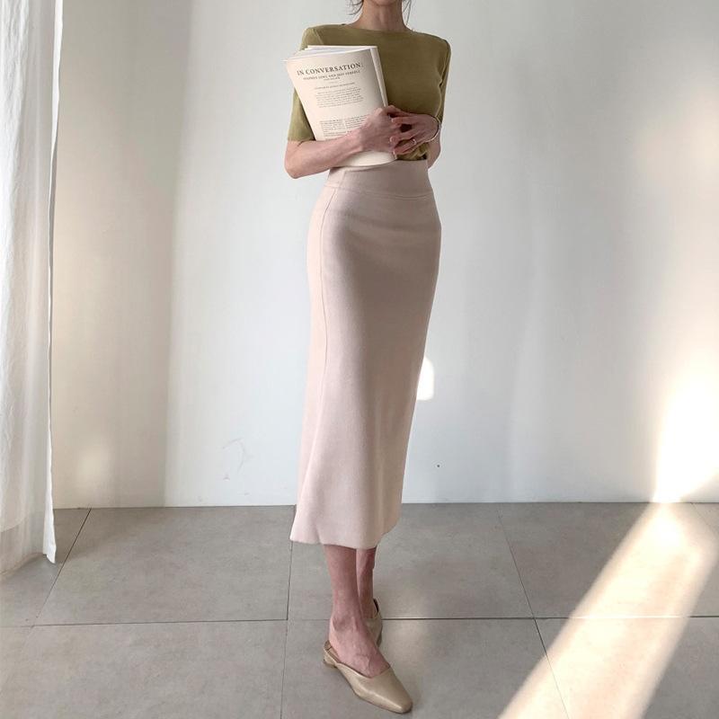 fishtail avental fishtail verão 2020 de comprimento médio cintura alta saia nova das mulheres do porto do estilo de primavera saia reta coberta de quadril