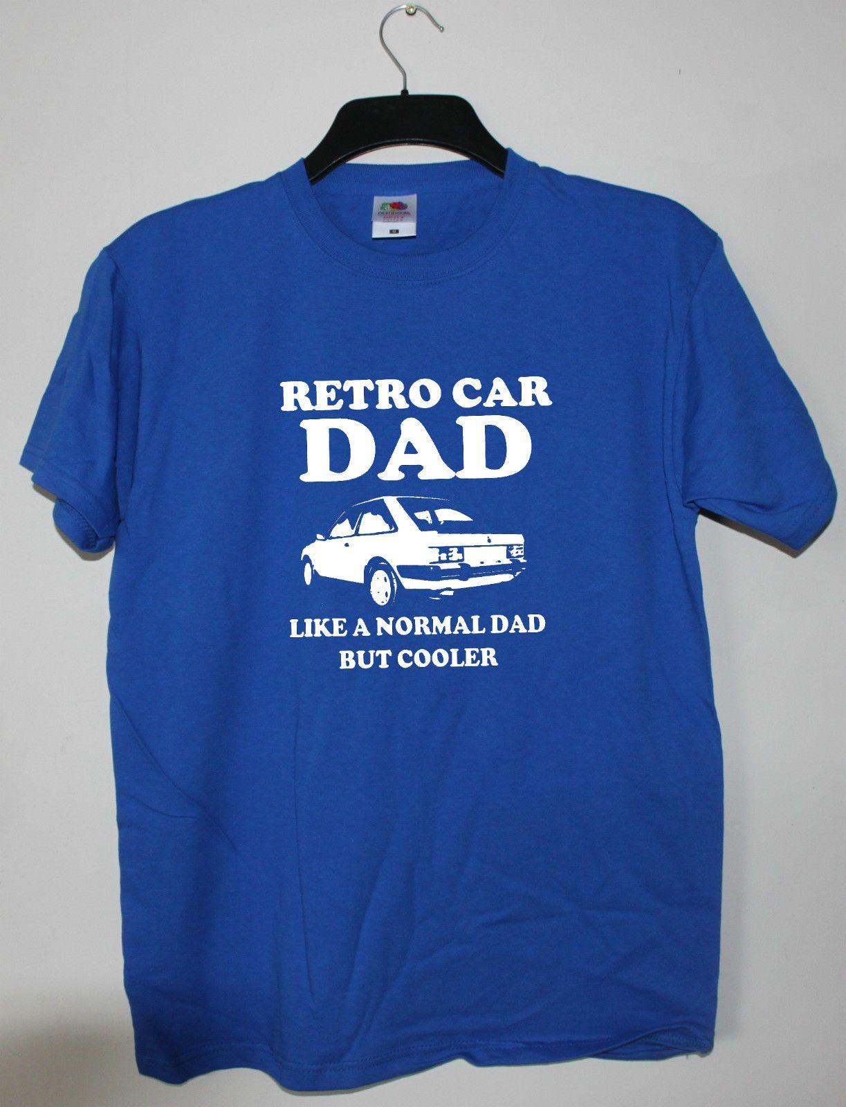 Forme la camiseta Marca American Car Escort Mk3 Camiseta divertida del humor de regalo Papá retro Elección de coches de colores de la camiseta