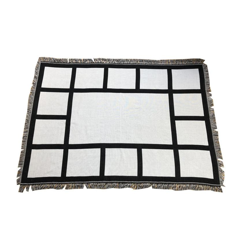 Sublimation panles بطانية 9 15 لوحة نقل الحرارية الطباعة البساط مع شرابات 1.25 * 1.5M الفانيلا أريكة غطاء A02