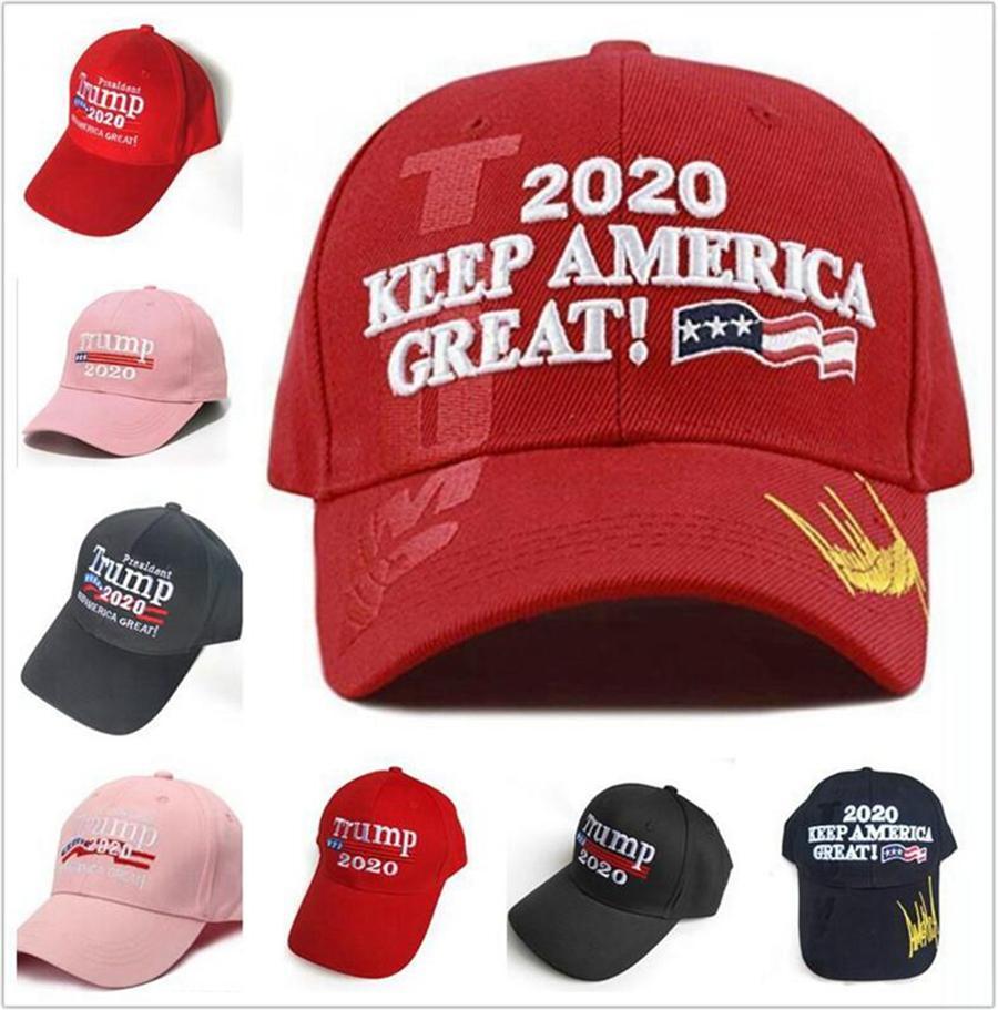 Trump Berretto da baseball 2020 Presidente rendere l'America Great Again Cappello Trump ricamato Outdoor Sports Snapback Hats DDA425