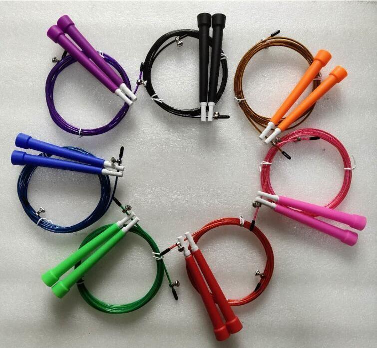 Atlama Halatları 7 Renkler Crossfit Atlama Halat Ayarlanabilir Atlama Halat Alüminyum Atlama Halatlar Spor Hız Atlamak Eğitim Ekipmanları CCA12411 200 adet