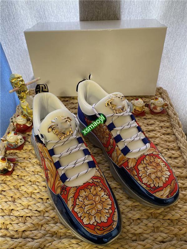 Versace Shoes 2020 neue Top Hochwertiges Design Schönheit Kopf Low-Top-luxe Freizeitschuhe luxe Sportschuhe Größe 38-44 Art und Weise der Männer