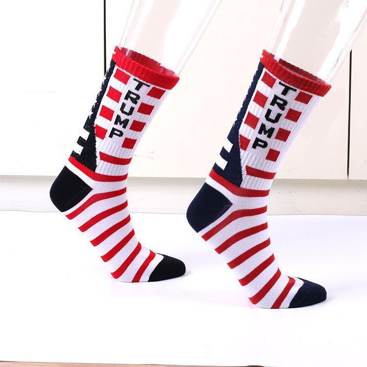 미국 국기 메이플 스트라이프면 MAGA 트럼프가 높은면 내용과 캐주얼 중간 sockSocks 알파벳 유행