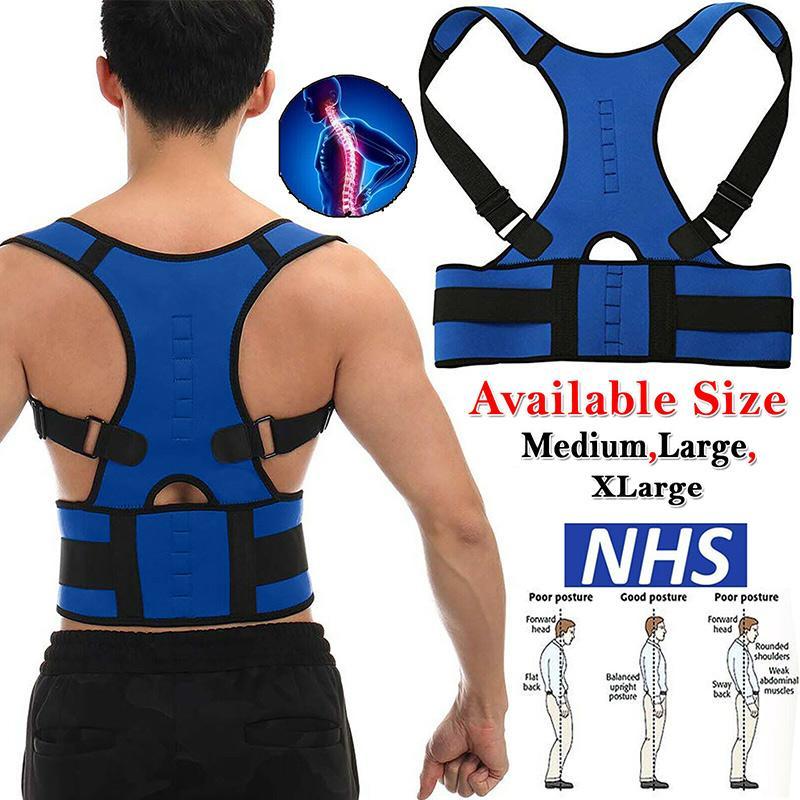 Brace Suporte cinto ajustável Voltar Spine Corrector postura Jubarte dor traseira Suporte Brace Shoulder Belt Postura Correction