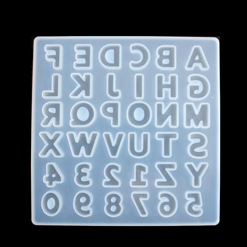 Transparente Silikon-Form Getrocknete Blumen-Harz Dekorative Fertigkeit DIY Buchstaben- und Zahlen Mold Epoxyharzformen für