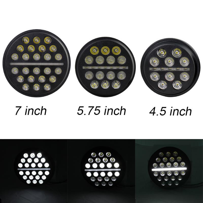 7 inch 5.75 inch 4.5 Round Led Headlight High Low Beam Light with DRL Headlamp For Wrangler Off Road 4x4 Motorcycle