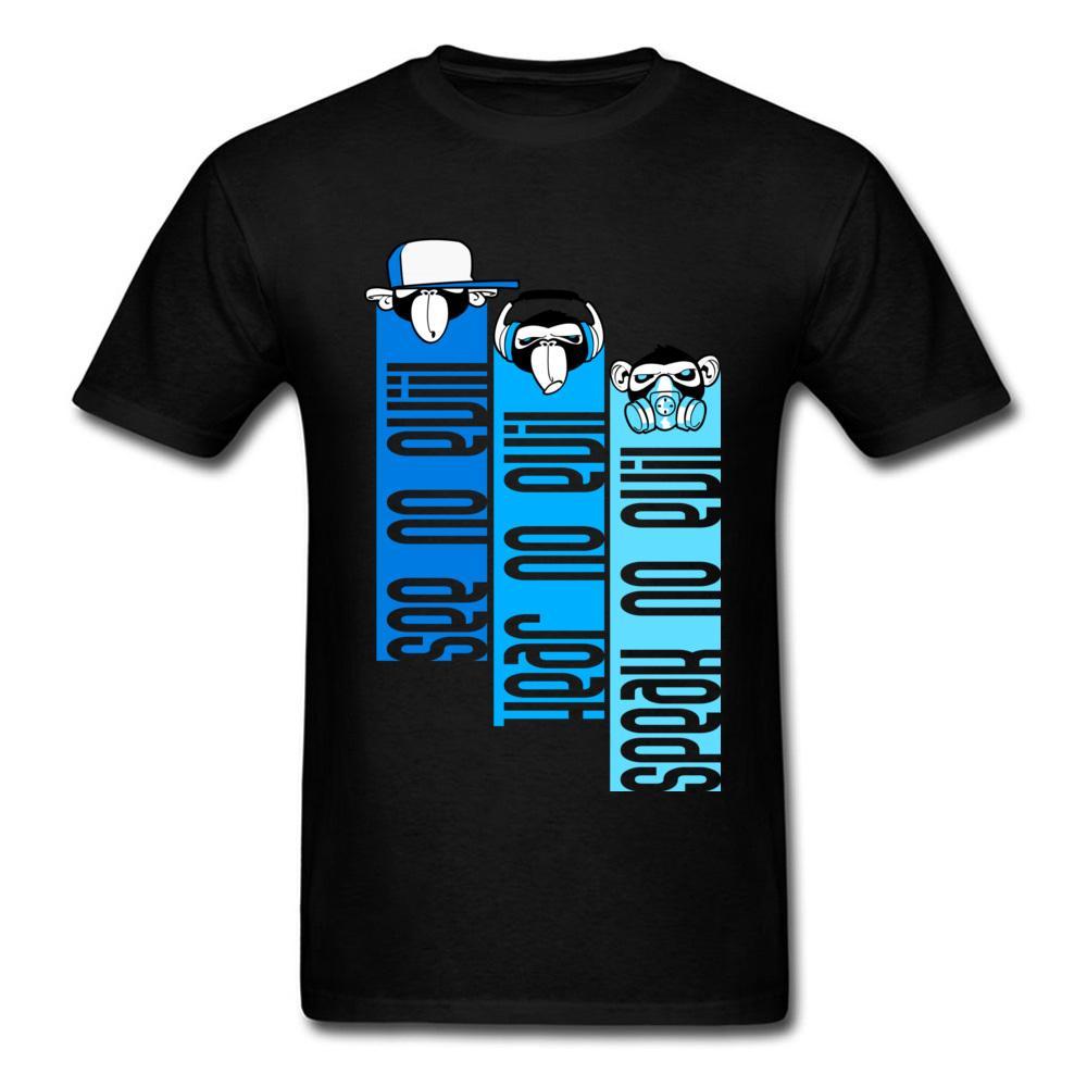 Young T-Shirt Hiphop Rap Monkeys Комиксы Топы Тис Хлопок Ткань O-образным вырезом с коротким рукавом на заказ Tops рубашки Рождественский подарок футболку