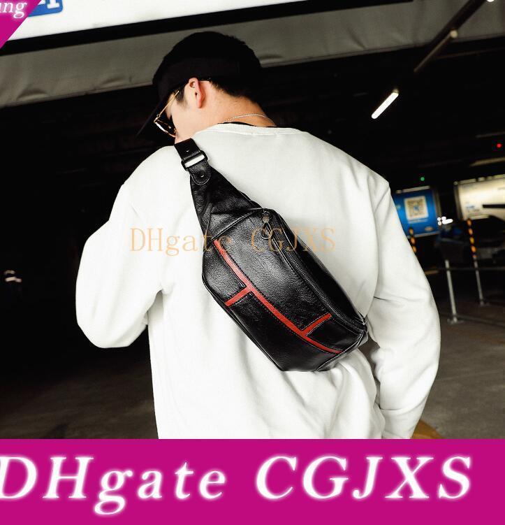 Завод оптовой Мужчины сумки Street Trend Кожа мужчины сумки на ремне, Универсальный спортивный досуг мужчины сумка талии Мульти -функционала моды кожа