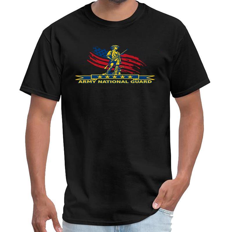 Отпечатано АРМИЯ Национальная гвардия Гордо Ропа Hombre Футболка мужская футболка марочные 3xl 4xl 5xl натуральный