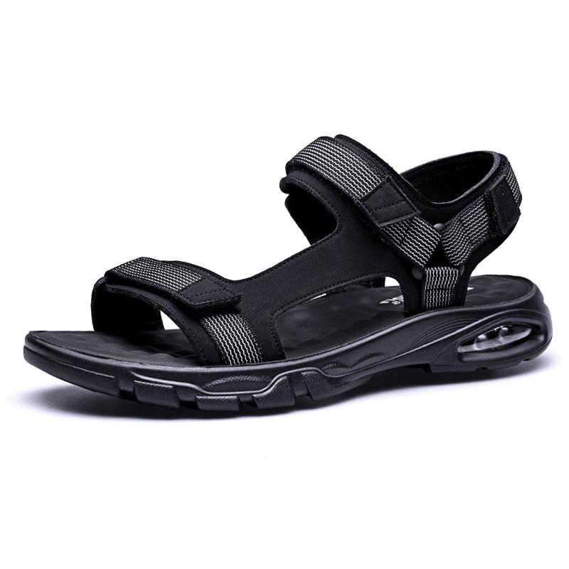New Summer Shoes Men Beach Sandals Flat Soft Casual Men Sandals 2020 Black Summer Holiday Male Thick Sole A2229