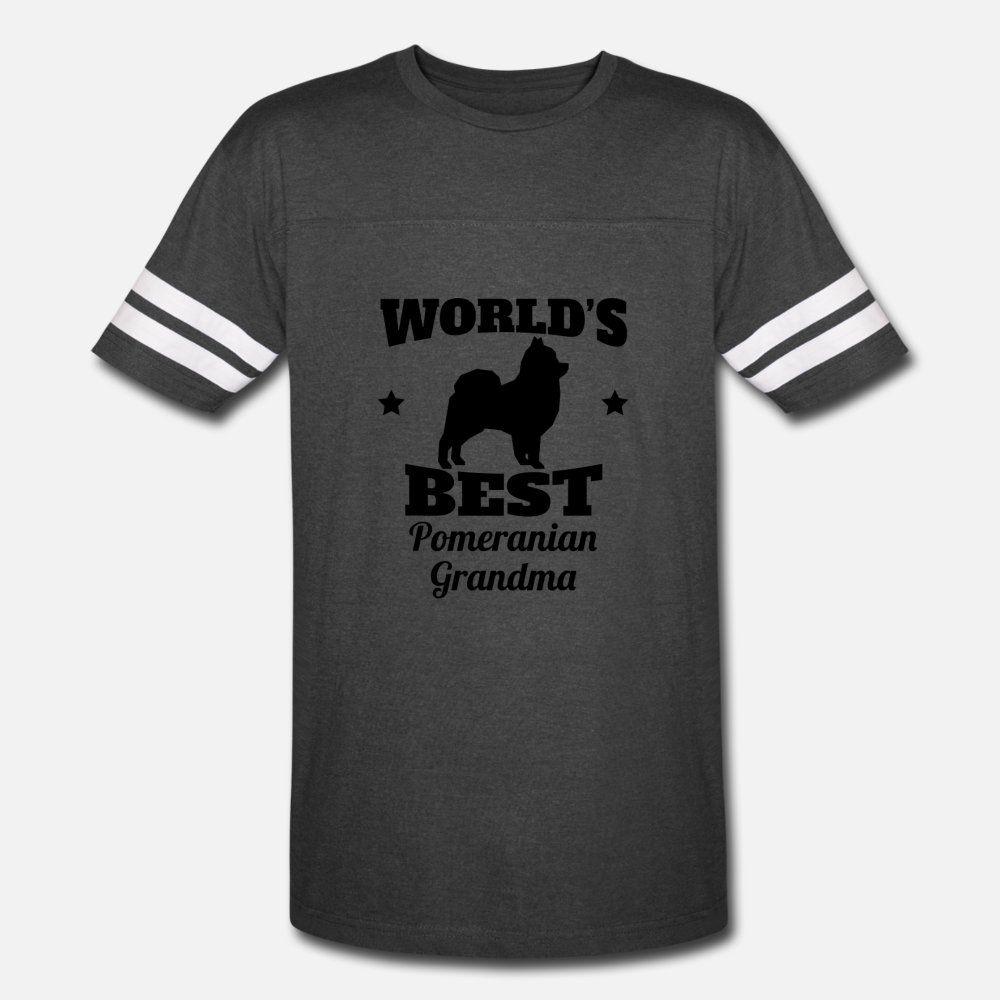 Dünya S En Pomeranian Büyükanne t gömlek erkekler kişiselleştirilmiş tişört Mürettebat Boyun Harf Kırışıklık Karşıtı Otantik İlkbahar Sonbahar Harf gömlek