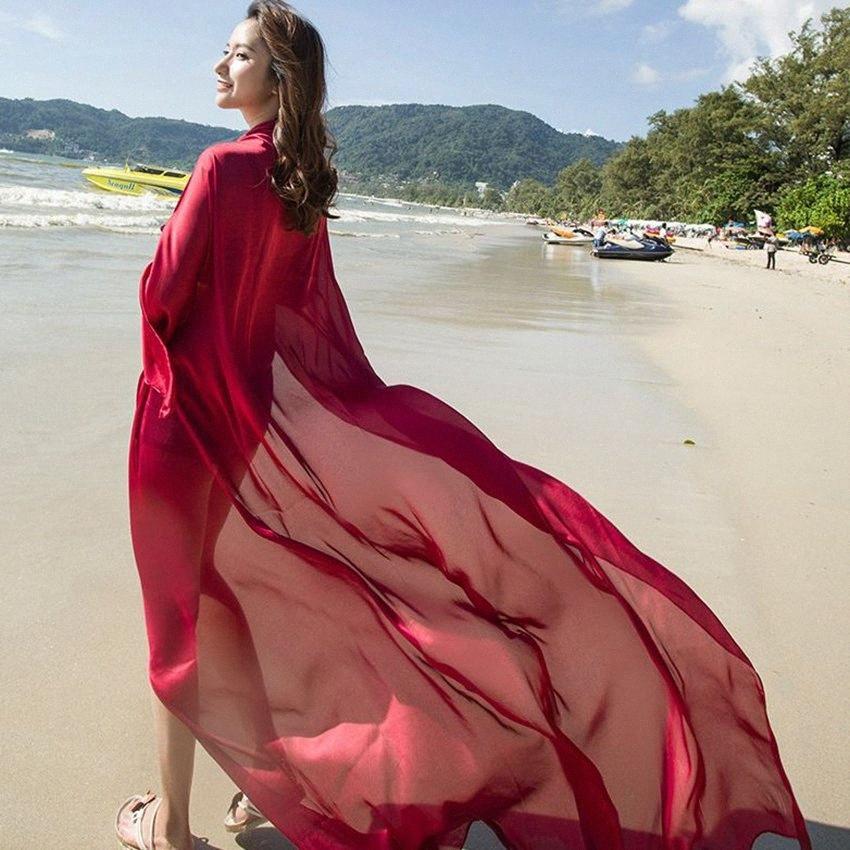 femmes Beachwear douce plage Châle taille en peluche imités soie plage Sarong maillot de bain Wrap Couverture 140 * 190cm LJJK2141 xGrD #