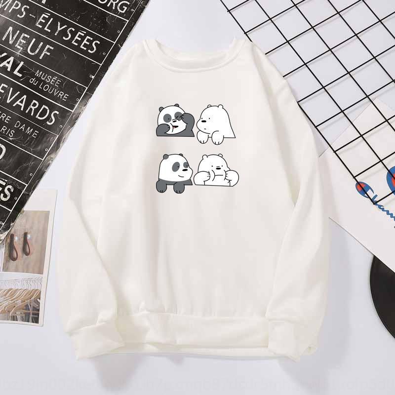 FQF maglione marchio di moda grandi dimensioni nuovo pullover pullover stampato manica lunga maschile e del panda del fumetto della primavera delle donne allentate 20