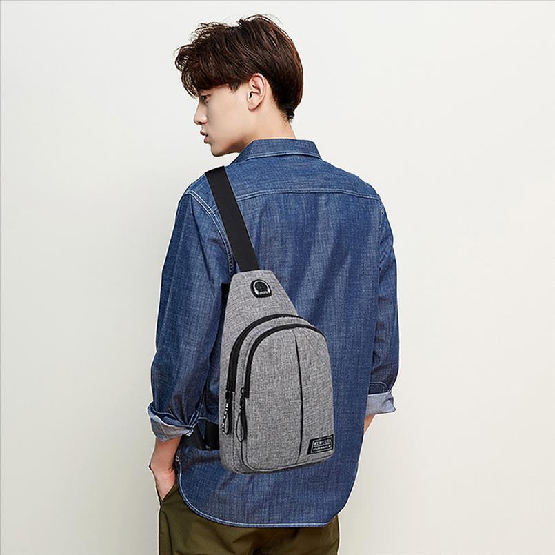 Recentemente Uomini Oxford Giappone e di stile coreano Casual Fashion Sport panno Viaggi petto Sacchetto selvaggio Piccolo Fashion Bag Tasche 50