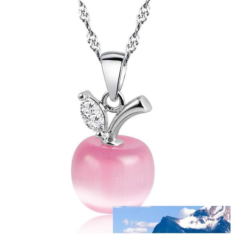 Новый Симпатичный Белые Красное Ожерелье Подвеска для женщин Девушки Кристалл и Опал ожерелье Мода Прекрасных Ключичных цепей ювелирных изделия