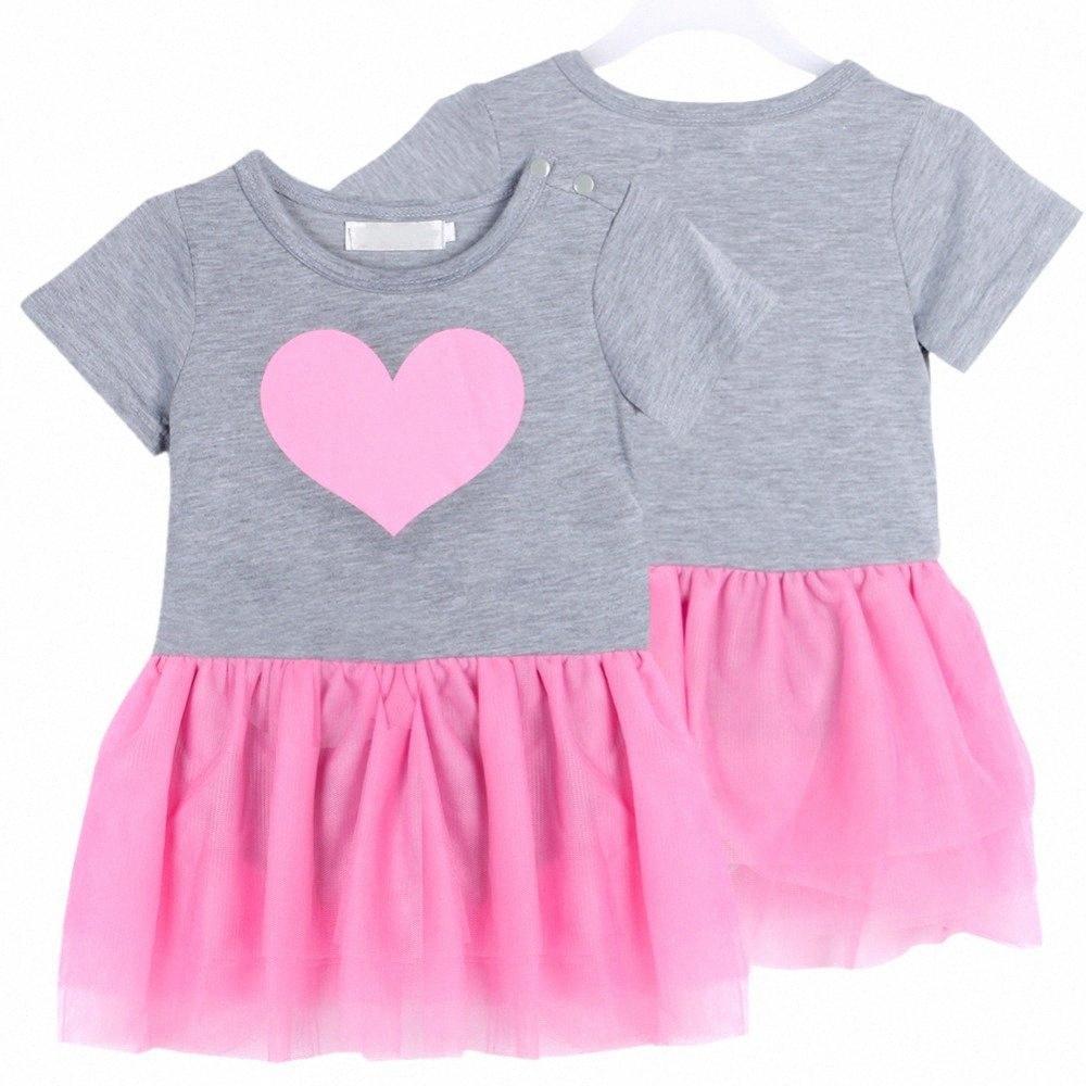 Bébés filles du nouveau-né Outfit Tops T-shirt + Tutu Robe anniversaire Vêtements Set SZ-01 1-3Y WY Dernière conception 3txs #