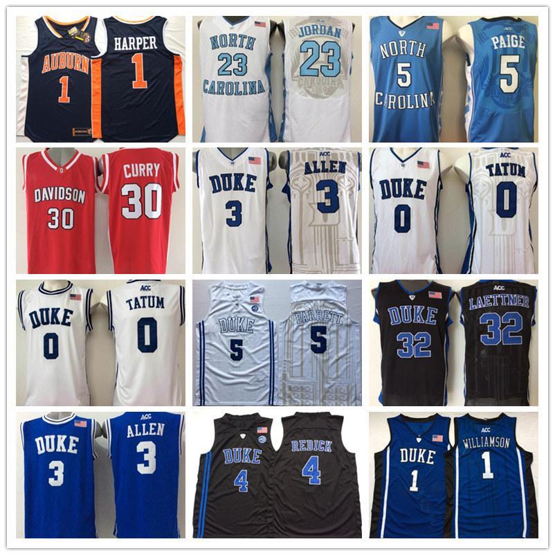 NCAA Duke Blue Devils Джерси 0 Джейсон Татум 1 Ирвинг 2 Красноватый 3 Грейсон Аллен Синий Белый Черный College Basketball трикотажных изделий