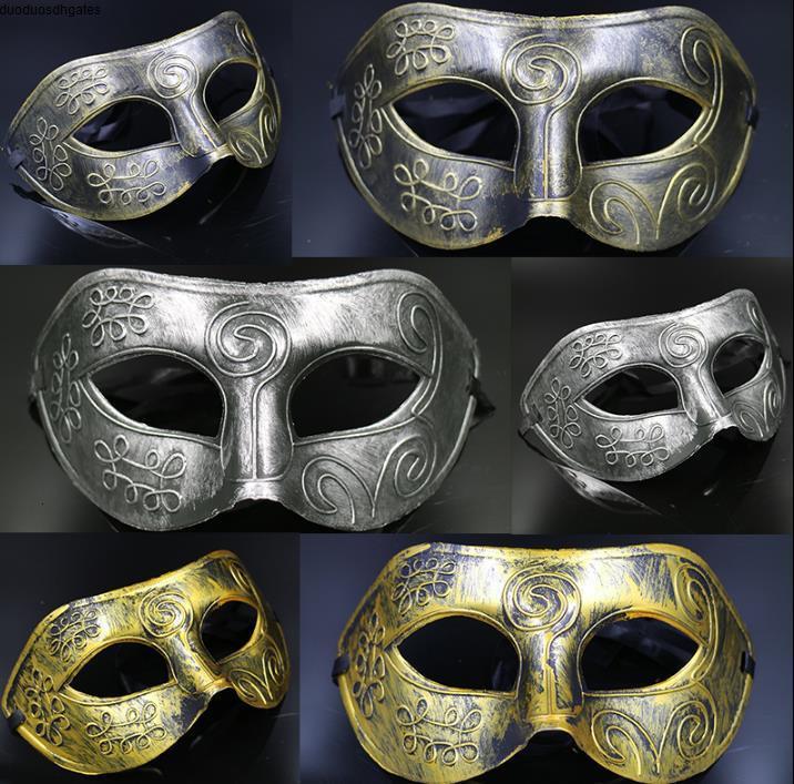 Costumes de mascarade de Halloween masques Masque Halloween Party moitié du visage Masques de mascarade chevalier prince Masques Cadeaux Mardi Gras